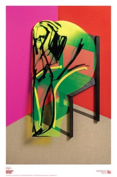 Adam Neate - Black Chair Poster