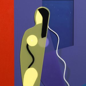 Adam Neate limited edition figurative multiple, woman silhouette, for sale, Elms Lesters