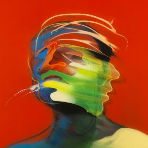Adam Neate limited edition print, diasec, movement, shaking head, self portrait, Elms Lesters for sale