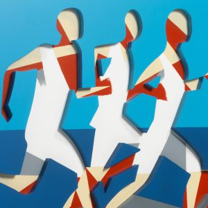 Adam Neate limited edition print / multiple runners, Elms Lesters, for sale