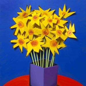 adam neate dimensional painting daffodils