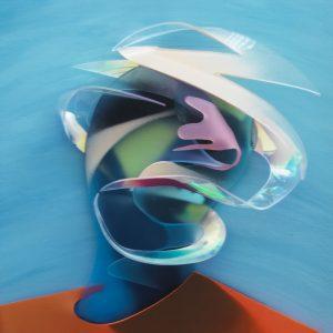 Adam Neate limited edition 3D lenticular print, self portrait, Elms Lesters