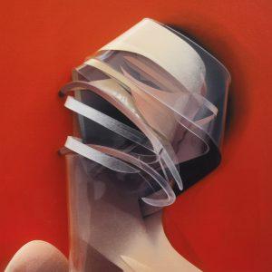 Adam Neate limited edition 3D lenticular print, Elms Lesters, self portrait, for sale